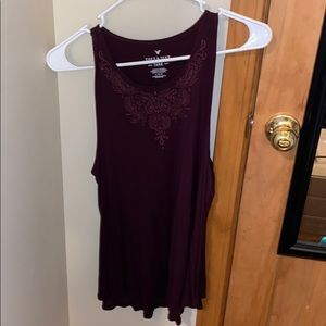 Soft and sexy AE tank Maroon